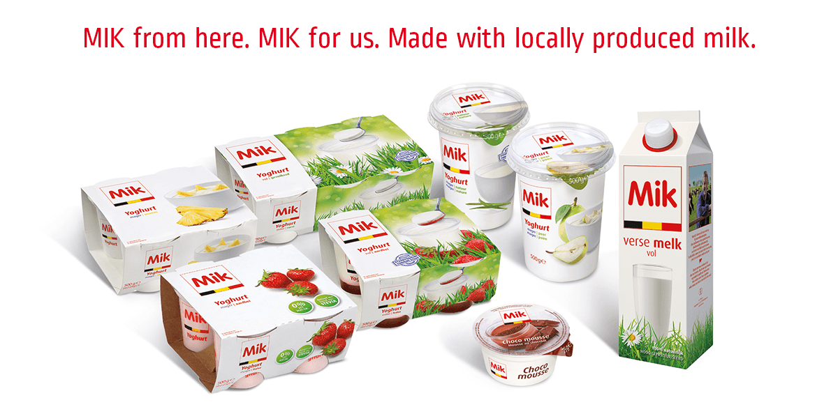 MIK from here. MIK for us. Made with locally produced milk.