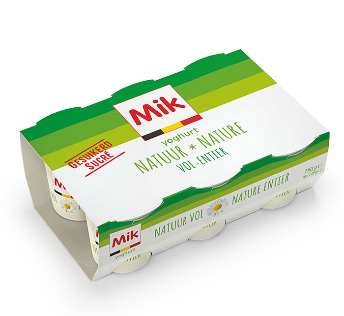 Lightly sweetened natural set yogurt 6x125g